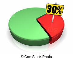 gráfico-circular-30-porcentaje-clip-art_csp5279641