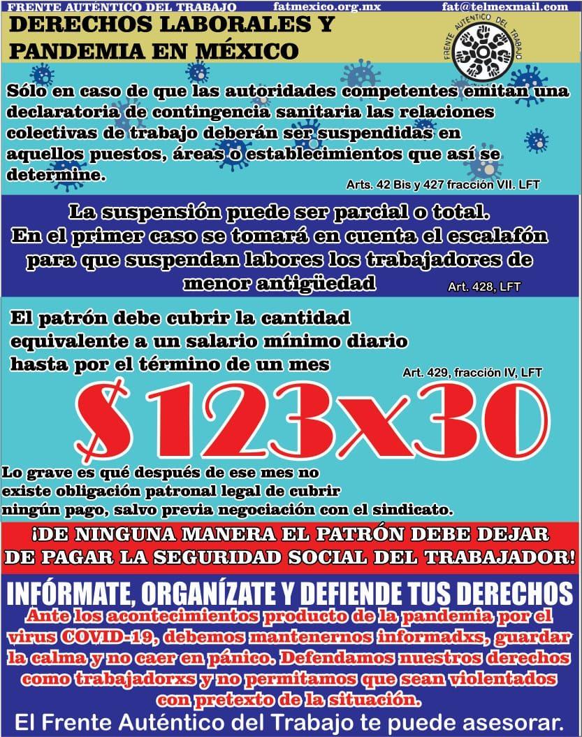 Derechos laborales y pandemia en México
